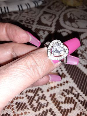 sterling silver heart ring. size 7 for Sale in Fullerton, CA