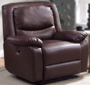 New!! Faux Leather Recliner,Reclining Chair, Furniture,Push Button Recliner for Sale in Phoenix, AZ