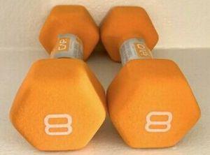 *NEW* x2 CAP Barbell Neoprene Coated Dumbbell Weights 8lb Pound Orange Set for Sale in Glenarden, MD