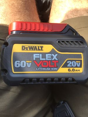 DEWALT flexvolt 6.0ah battery. for Sale in Hollins, VA