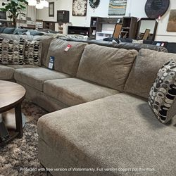 NEW, LARGE RAF Corner Chaise, PLATINIUM COLOR, SECTIONAL. for Sale in Chino,  CA
