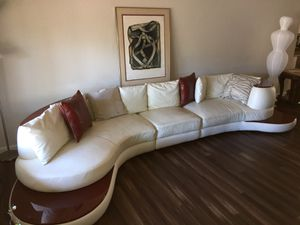 Genuine leather designer couch for Sale in Campbell, CA