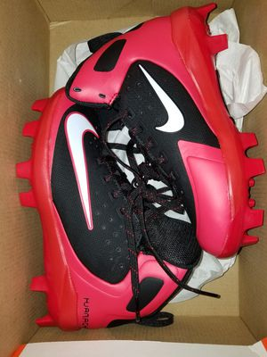 Brand New Nike Alpha Huarache Pro Mid Baseball Molded Cleats Red White Black Sizes 10c, 13c, 3, 4, 5 for Sale in West Covina, CA