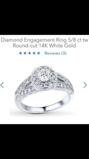 Diamond Engagement Ring Round-Cut 14K White Gold for Sale in Pittsburgh, PA
