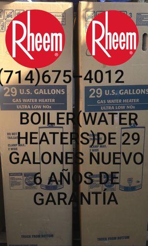 BOILER(WATER HEATERS)DE 29/30 GALONES NUEVO DE LA MARCA RHEEM!!!!! for Sale in Santa Ana, CA
