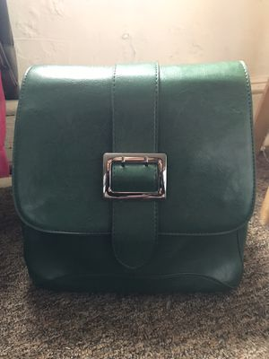Green leather convertible backpack / purse / crossbody bag for Sale in Philadelphia, PA