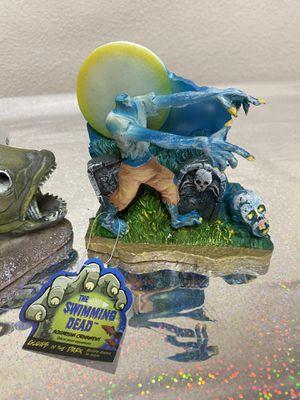The swimming walking dead fish tank aquarium zombie ornament new for Sale in Hesperia, CA