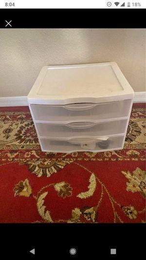 3 drawer plastic organizer for Sale in Chandler, AZ