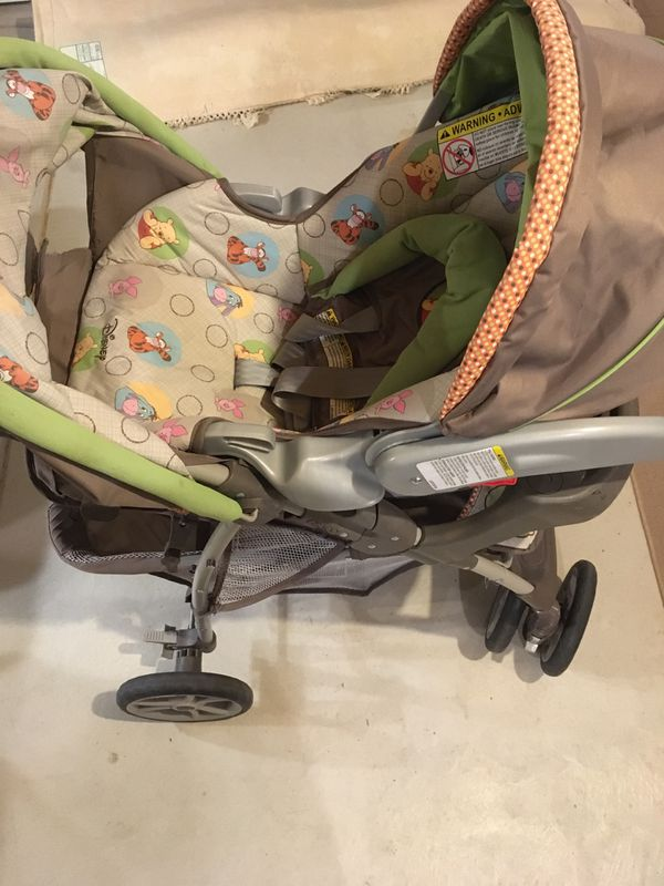 Graco Disney Winnie The Pooh Stroller and Car seat