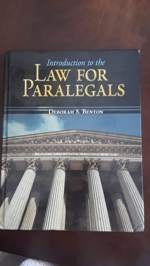 Introduction To Law for Paralegals for Sale in Torrance, CA
