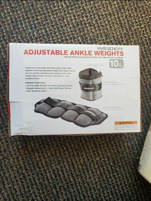 Ankle weights 10 pounds new barbell dumbbells for Sale in Whittier, CA