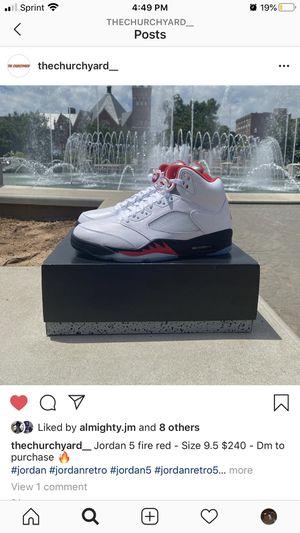 Jordan 5 fire red 2020 Size 9.5 Deadstock for Sale in Rock Hill, SC
