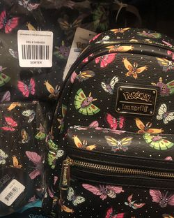 Butterfly Pokémon Loungefly With Matching Wallet And Makeup Bag All New With Tags for Sale in Sacramento,  CA