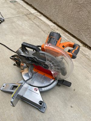 """Rigid 10"""" dual bevel compound miter saw 15 amp for Sale in Fontana, CA"""