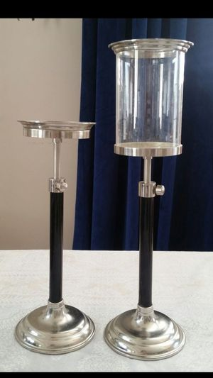 Pair = 2 Adjustable Heights Hurricane Candle Holder for Sale in Monterey Park, CA