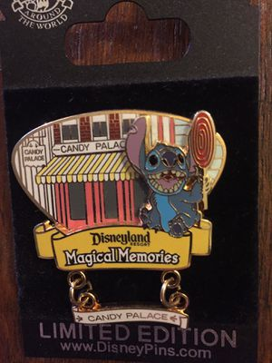 Disney Disneyland Magical Memories Candy Palace Stitch Pin for Sale in Portola Hills, CA