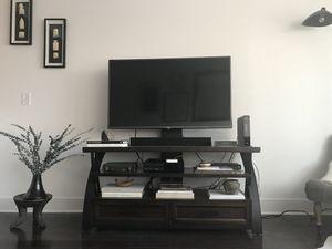 Espresso TV stand/ media console for Sale in Jersey City, NJ