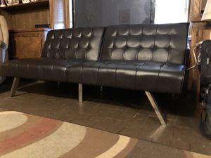 Black Leather futon for Sale in Huffman, TX