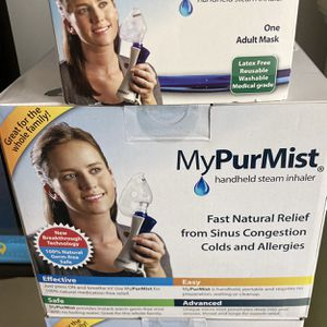 MyPurMist handheld steam inhaler Plus Two Face Masks for Sale in Boston, MA