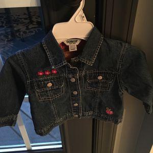 Toddler girl size 24m Oshkosh jean jacket for Sale in Centreville, VA