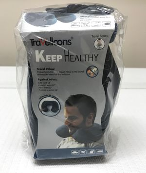 New Travelicons Self-Inflatable Travel Neck Pillow With Travel Pouch Inflates in 10 Seconds for Sale in Raleigh, NC