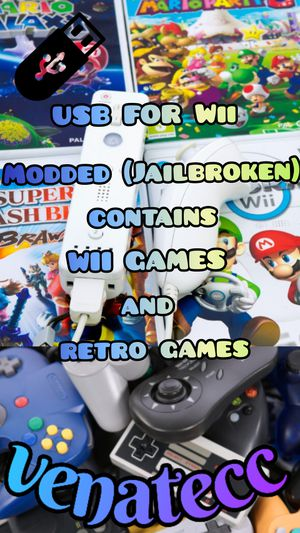 USB FOR Wii contains WII GAMES and retro games for Sale in Bakersfield, CA