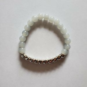 Silver And White Jade Bracelet for Sale in Hillsboro, OR