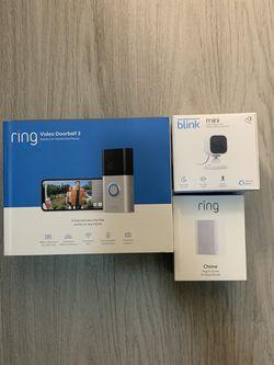 Ring Doorbell 3 & Ring Chime & blink Mini Brand New Sealed for Sale in Orlando,  FL