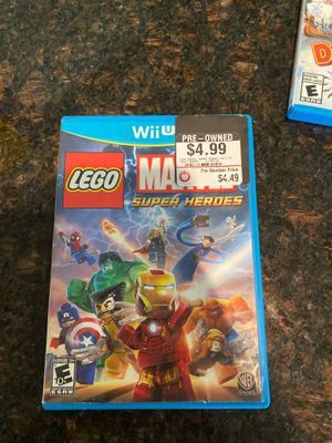 Wii U LEGO Mattel super hero's for Sale in Tomball, TX