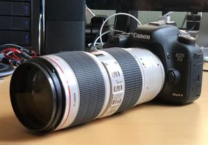Canon 7D mk2 rarely used (less than 10k shutter use)/ 70-200mm 2.8 L IS II USM/ for Sale in San Luis Obispo, CA