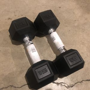 New 15 lb Dumbbells set pair | Delivery Available for Sale in Milwaukie, OR