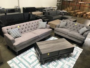 Sofa and Loveseat, Gray for Sale in Garden Grove, CA