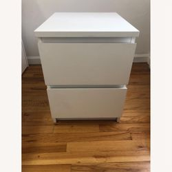 ikea malm 2 drawer nightstand with protective glasstop for Sale in Long Beach,  CA