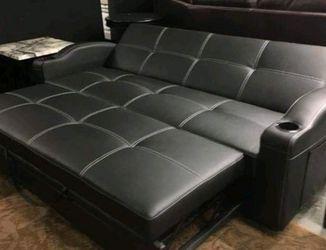Brand New Black Adjustable Sleeper Sofa for Sale in Austin,  TX