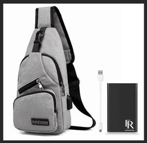 FR Fashion Co. 2019 Men's Sling Bag | Shoulder Bag For Men | Travel, Business or Leisure | USB Charging Port with Power Bank Included for Sale in Chino Hills, CA