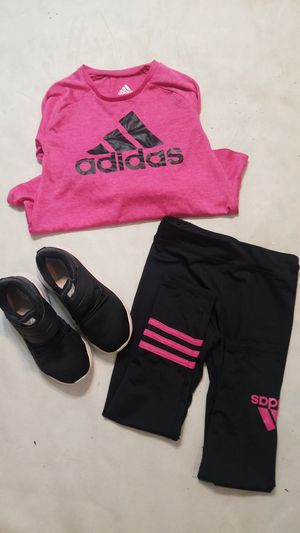 Adidas Girls Hot Pink Dri-Fit Breathable Running Set for Sale in Houston, TX