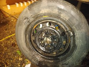 195/75r14 used tire and rim 5 lug for Sale in Ruskin, FL