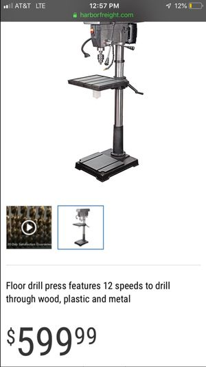 CENTRAL MACHINERY 20 inch DRILL PRESS for Sale in North Las Vegas, NV