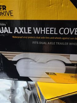RV Trailer Tire Covers X 4 + Spare tire Cover for Sale in Beaumont,  CA