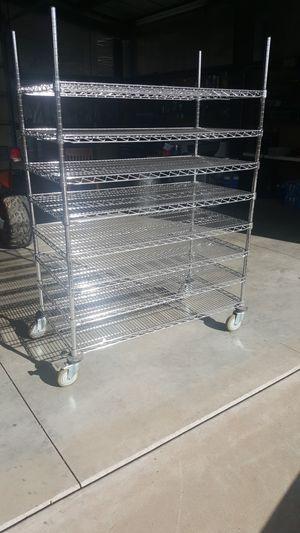 Chrome cart on wheels for Sale in Payson, AZ