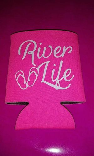 River Life Pink Can Koozie for Sale in York, PA