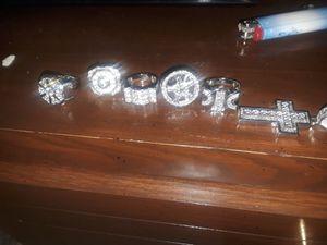 Mens sterling silver so icey rings for Sale in Lodi, NJ