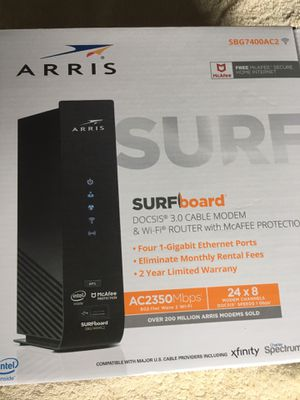 Arris Surfboard Docsis 3.0 Cable Modem & Wi-Fi Router for Sale in South El Monte, CA