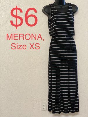 MERONA, Maxi Black & White Striped Dress, Size XS for Sale in Phoenix, AZ