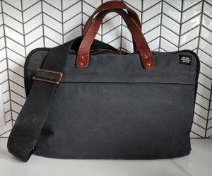 Jack Spade Briefcase Laptop Leather Canvas Messenger Bag Barney's NY a for Sale, used for sale  Los Angeles, CA