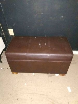 Brown Leather Ottoman Storage Chair for Sale in Manchester, TN