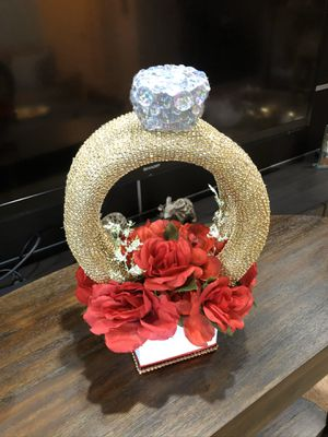 Wedding or bridal shower paper flowers and engagement ring decor for Sale in Land O Lakes, FL