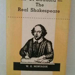 Book : 1963 W. K. Montague; The Man Of Staford The Real Shakespeare for Sale in Largo, FL