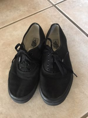 Black Vans - Youth Size 3 for Sale in Orting, WA