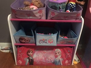 Toy organizer with Disney's Elsa and Anna for Sale in Alexandria, VA
